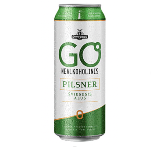 GO PILSNER NEALKOHOLINIS (0,5 l skard.)